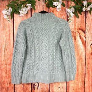 ⛄️ Vintage Express Tricot Fuzzy Mock Neck Sweater